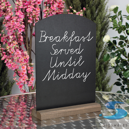 A3 counter table top chalk boards wooden sign