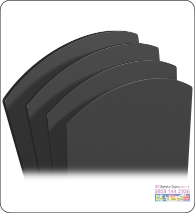 Chalkboard panels large 730 x 1049 x 4 mm no graphics sign