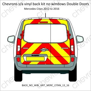 Mercedes Citan Double Doors 2013 to 2016 Low Roof