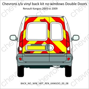Renault Kangoo Double Doors 2000 to 2008