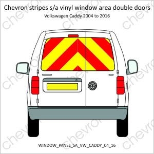 Volkswagon VW Caddy Double Doors 2004 to 2016